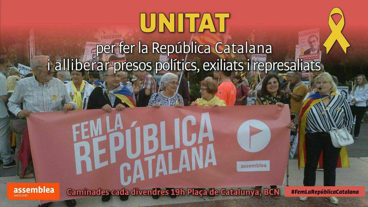 Per fer la Republica Catalana i alliberar presos politics, exiliats i represaliats