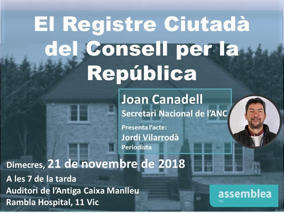 El Registre Ciutadà del Consell per la República
