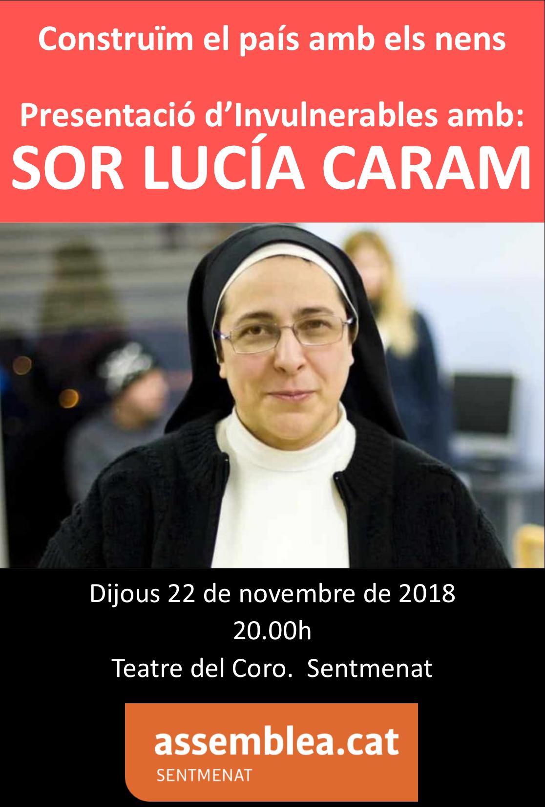 Presentació d'Invulnerables amb sor Lucía Caram