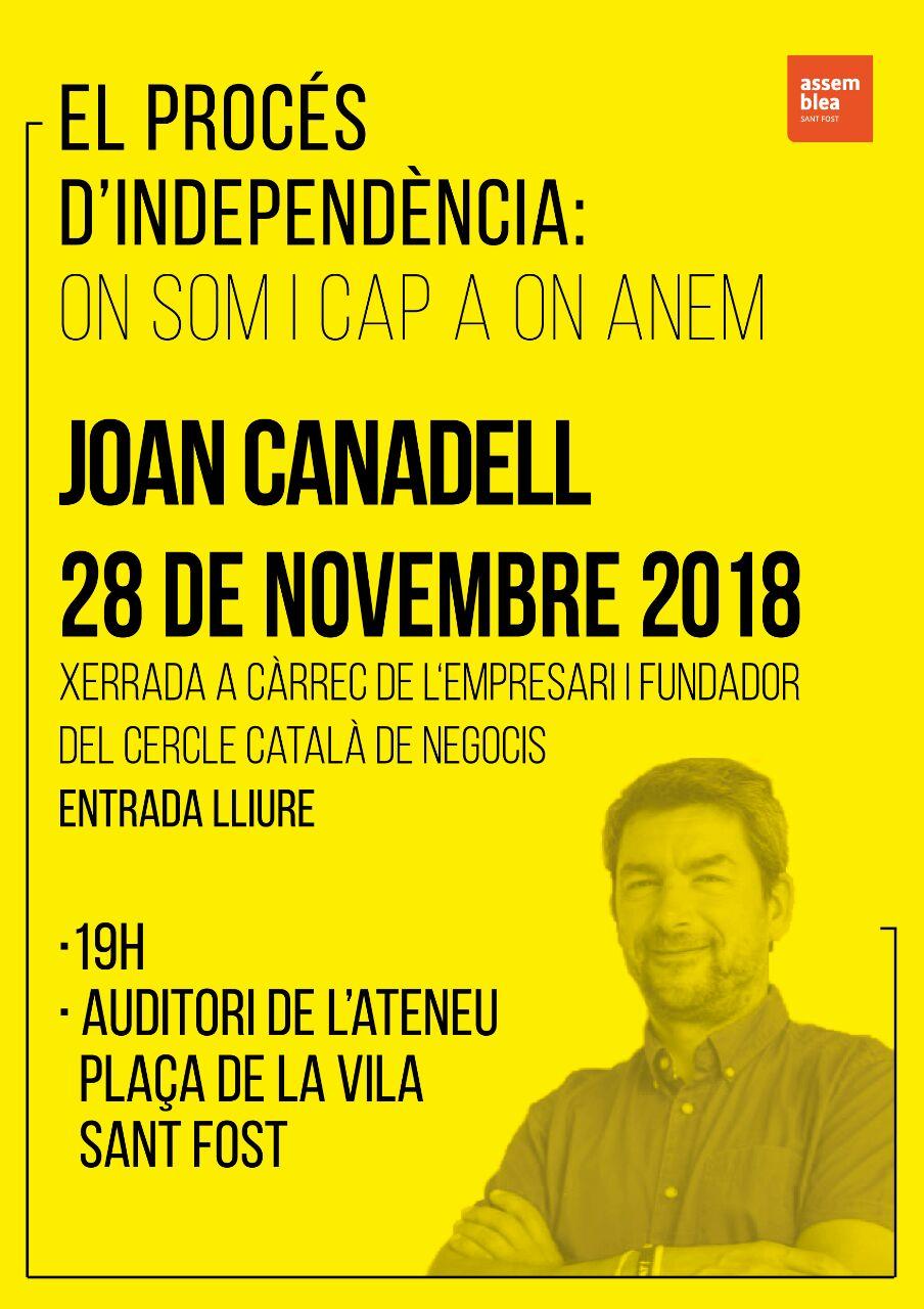 Xerrada de Joan Canadell: On som i cap on anem