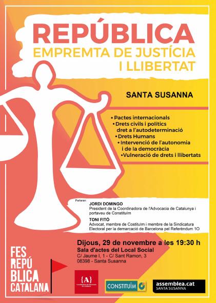 República. Empremta de Justícia i Llibertat