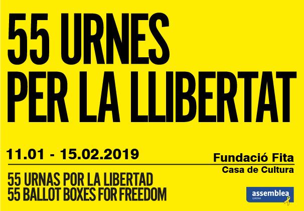 Exposició 55 urnes per la llibertat