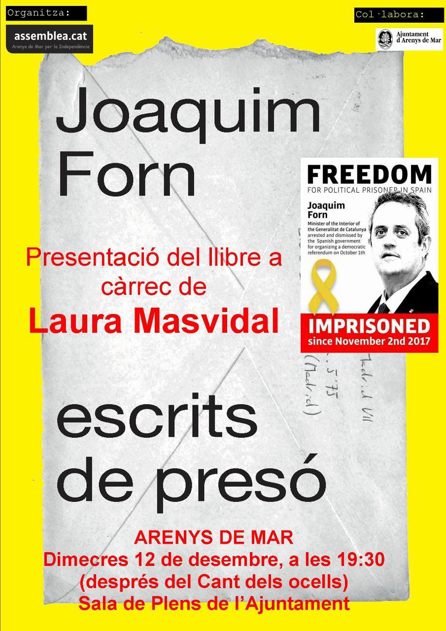 """Presentació del Llibre """"Escrits de presó"""""""