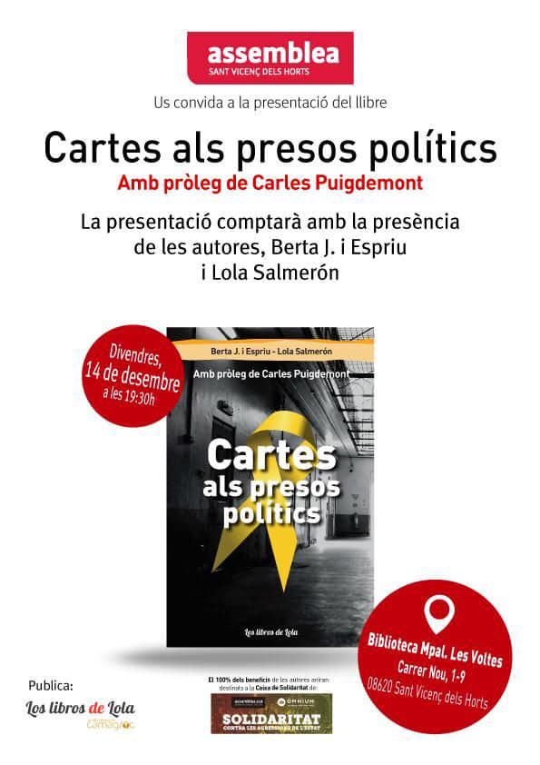 """Presentació llibre """"Cartes als Presos Polítics"""""""