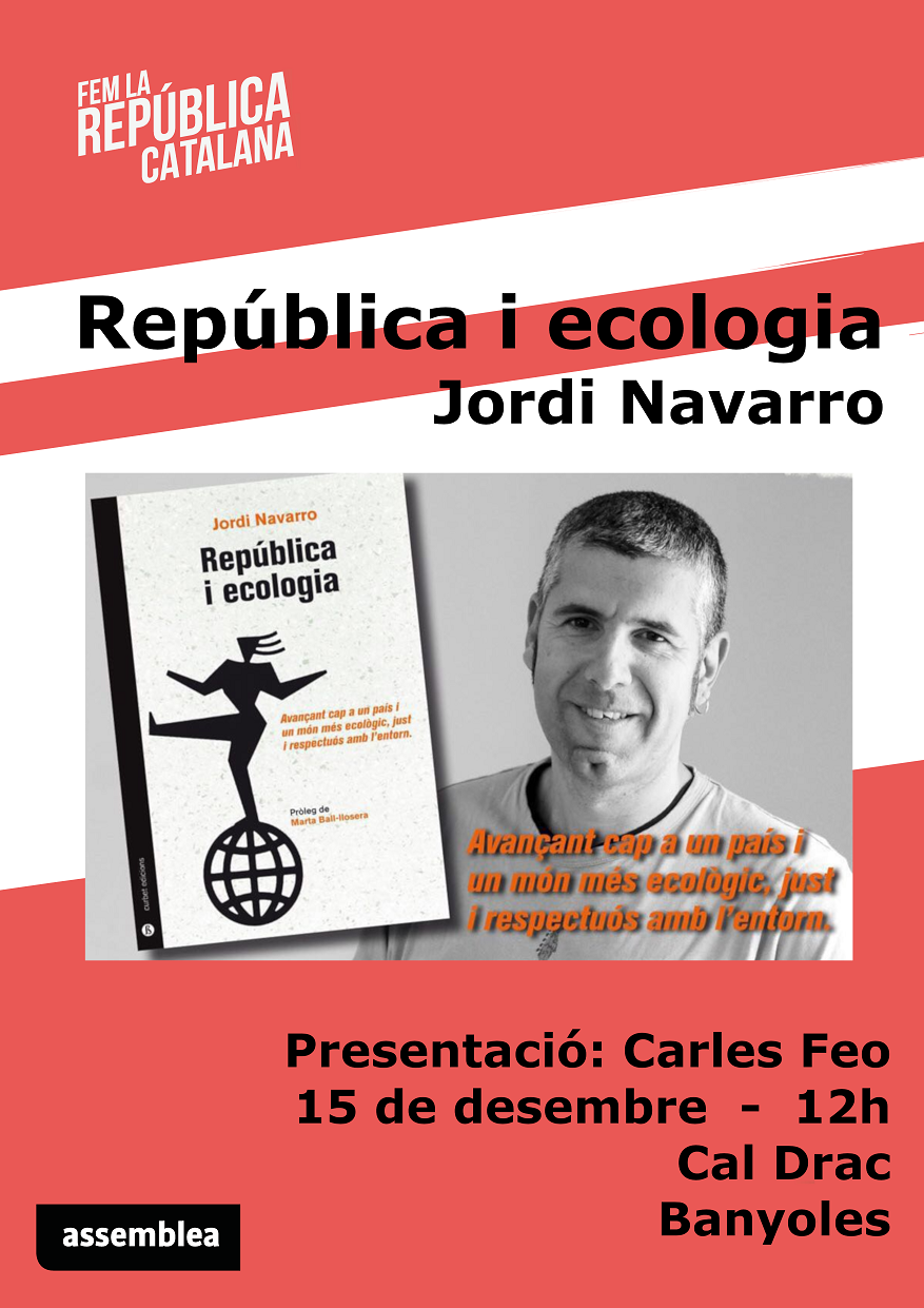 Presentació del llibre: República i ecologia