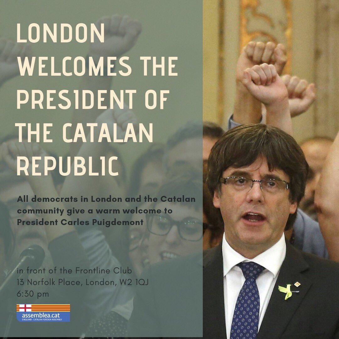 Benvinguda a Carles Puigdemont