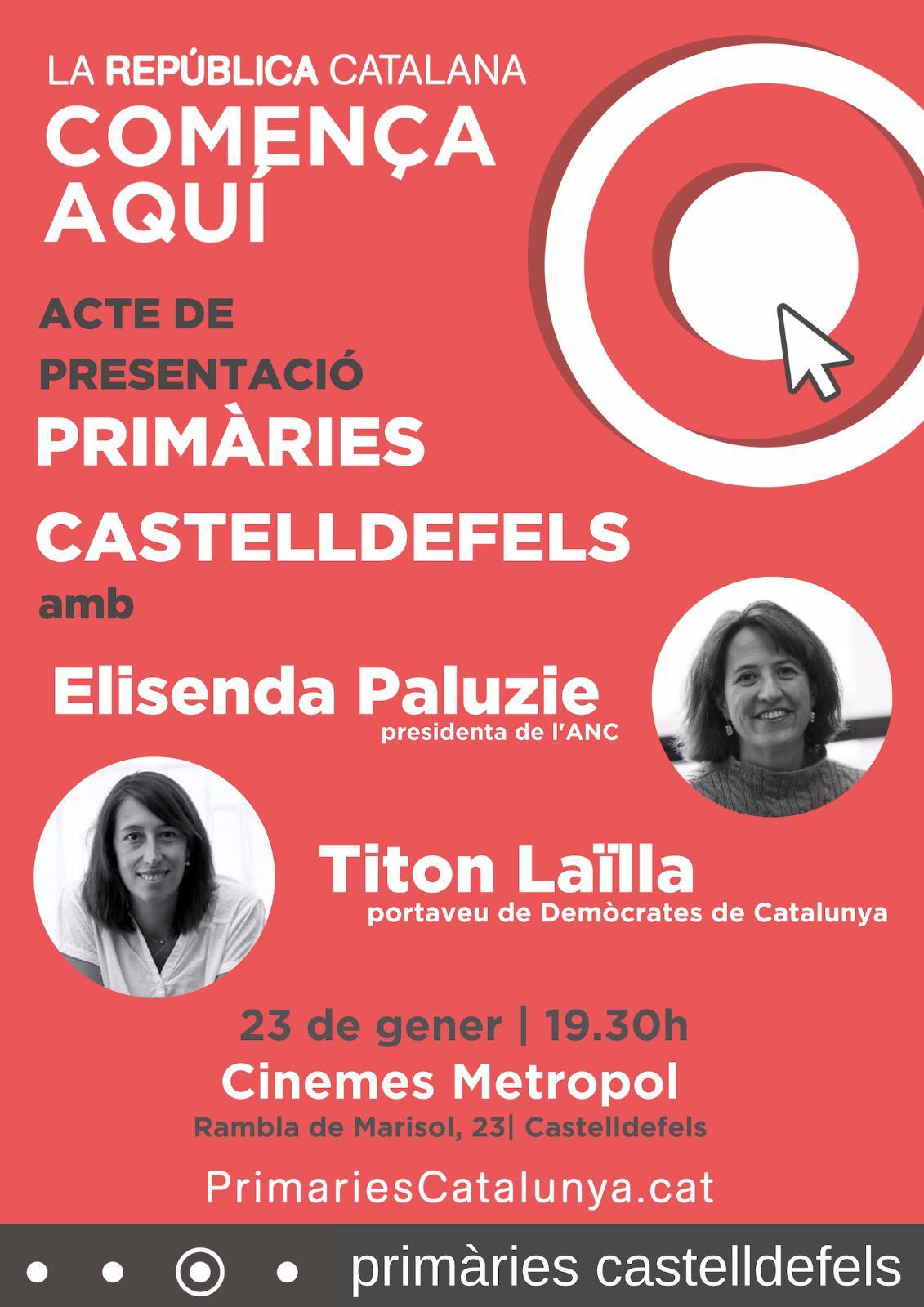 Acte de presentació Primàries Castelldefels