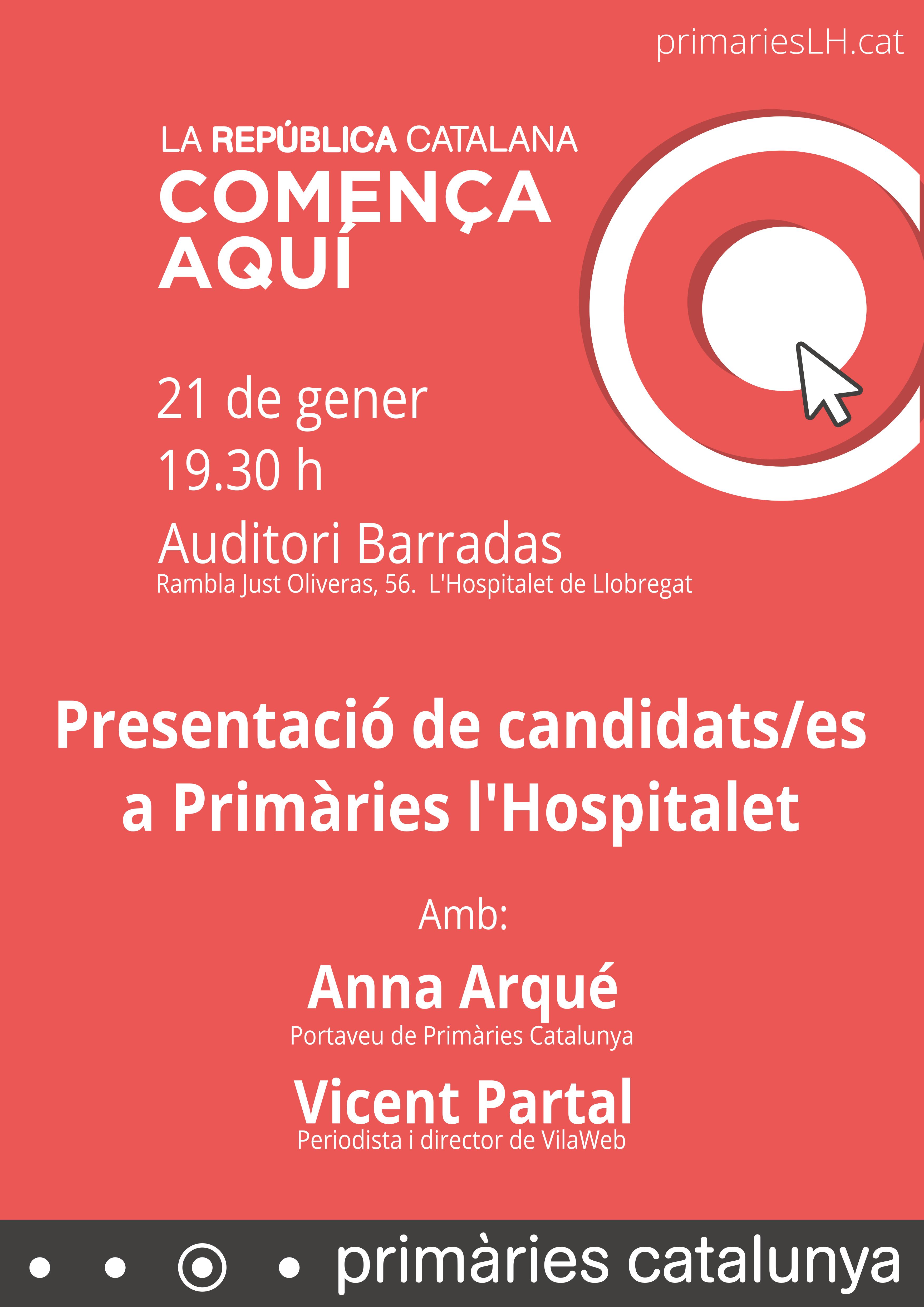 Presentació dels candidats/es a Primàries l'Hospitalet