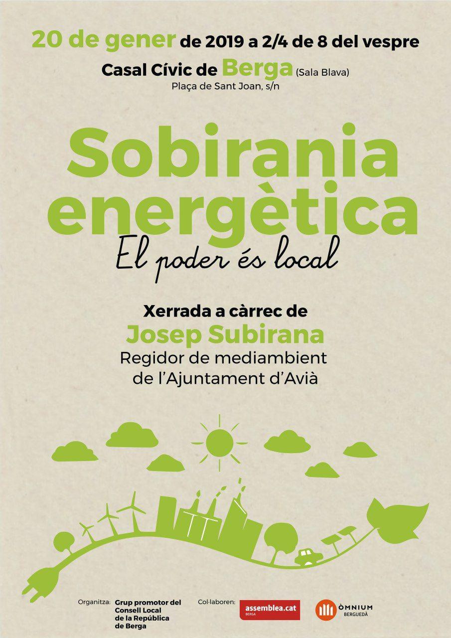 Sobirania energètica: el poder és local