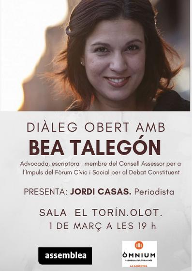 Olot dialoga amb Bea Talegón