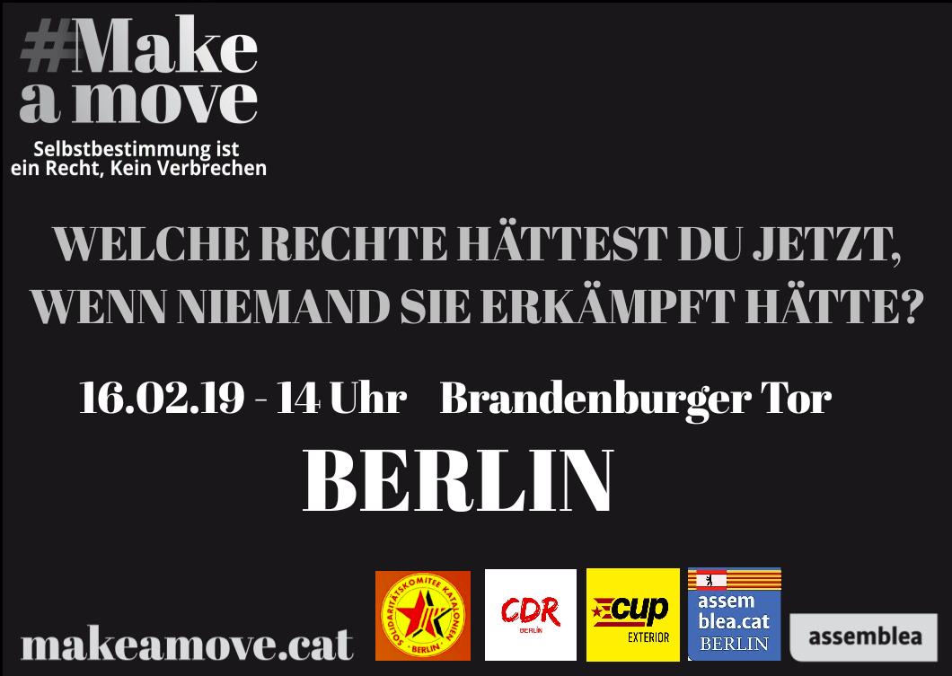 Manifestació a Berlin #Makeamove