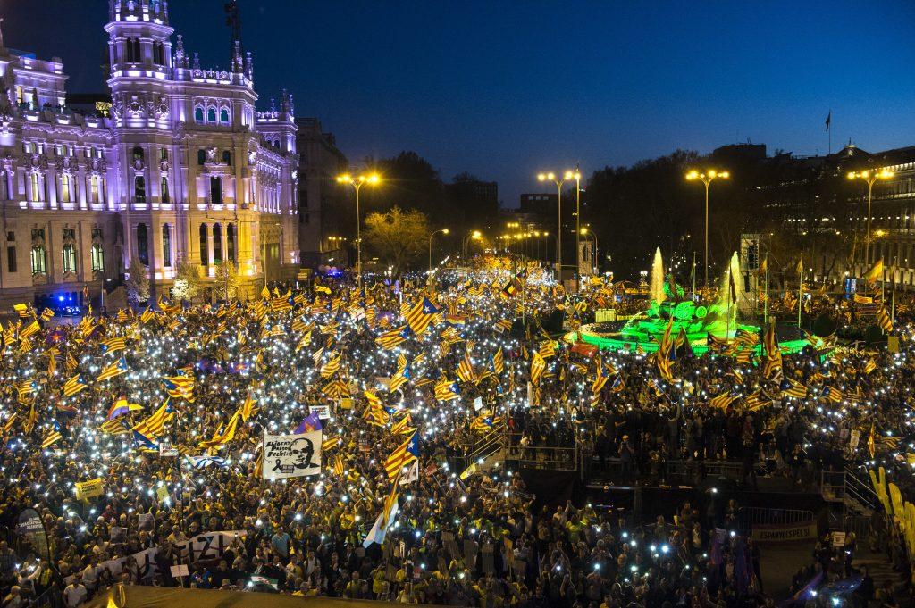 Gran manifestació independentista a Madrid