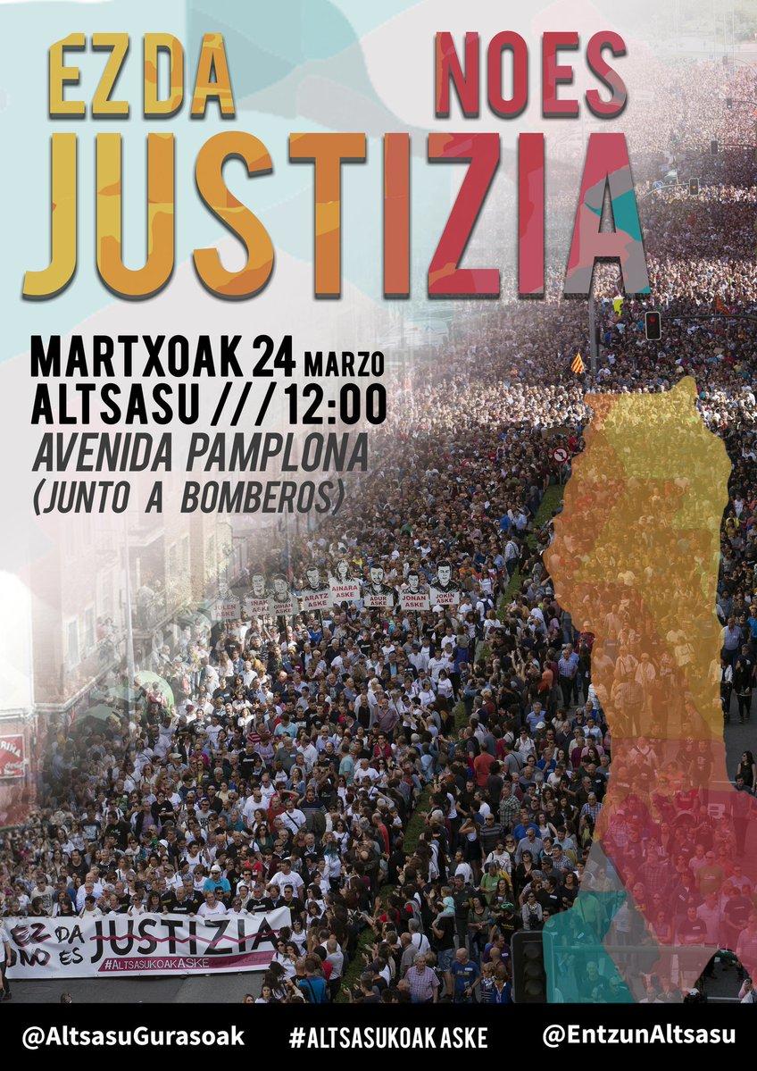 Manifestació de suport als joves d'Altsasu