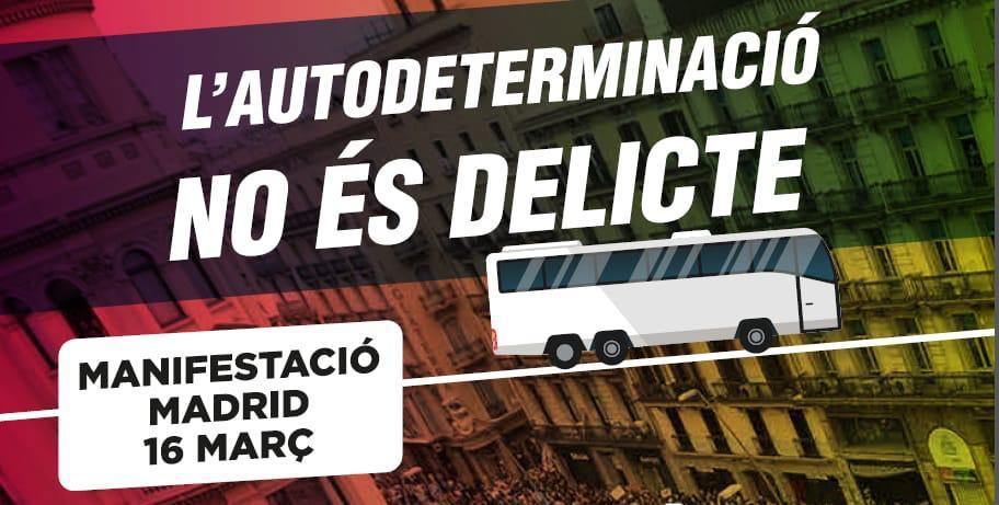 Autocars Mollet-Madrid pel 16 de Febrer