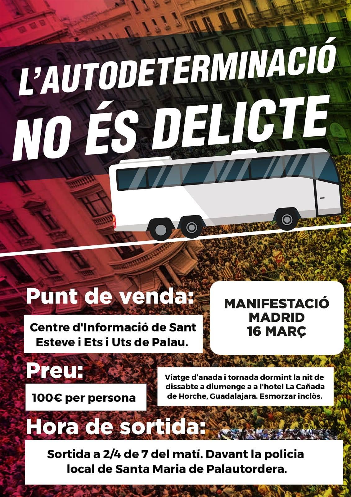 Autocar a Madrid des de Palautordera