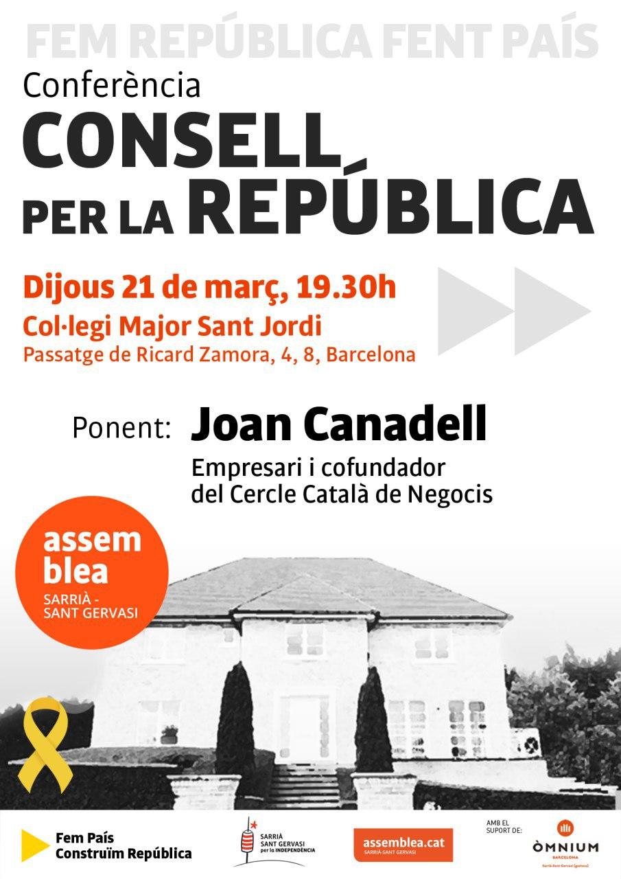 Conferència: el Consell per la República