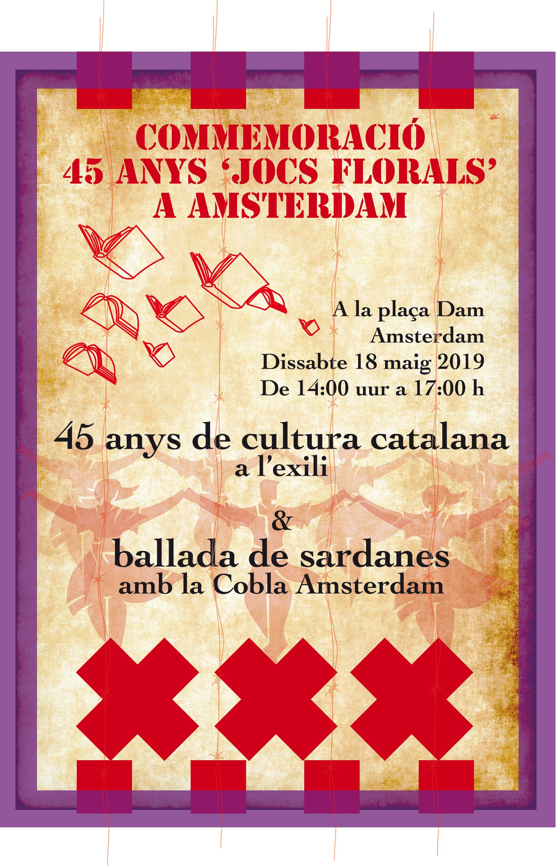 Commemoració dels 45 anys de jocs florals a Amsterdam