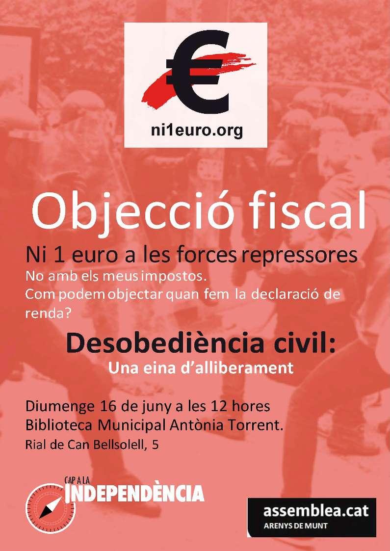 Objecció Fiscal. Ni un euro a la repressió.