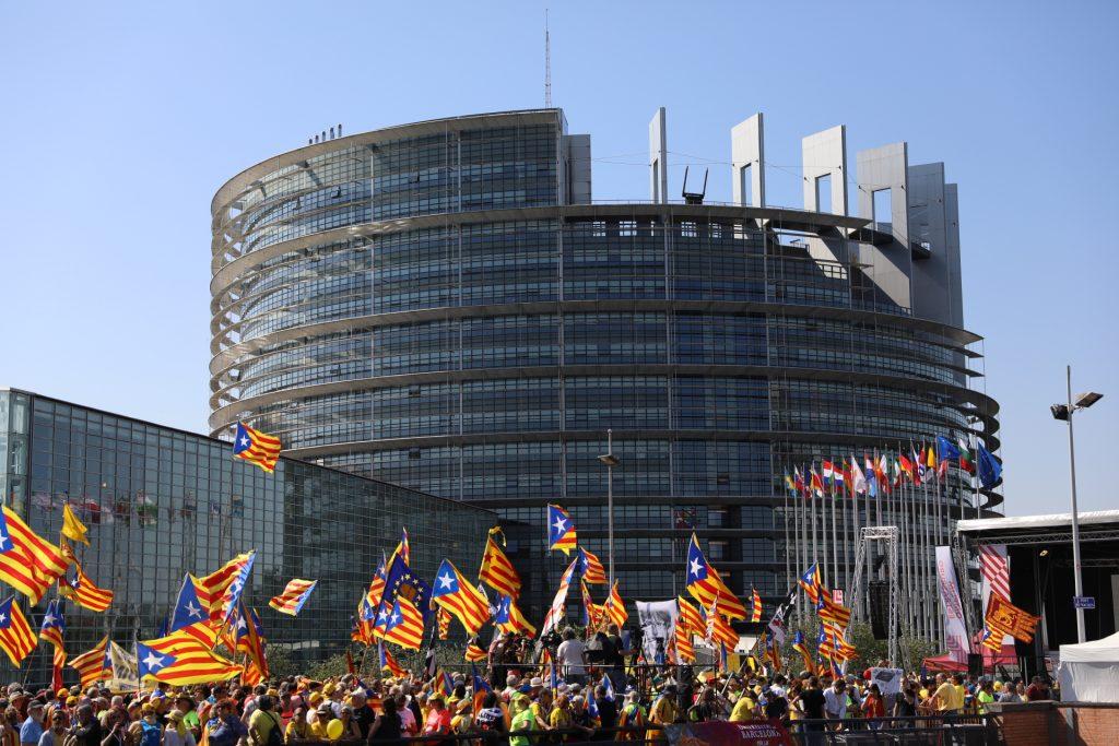 Manifestants a Estrasburg