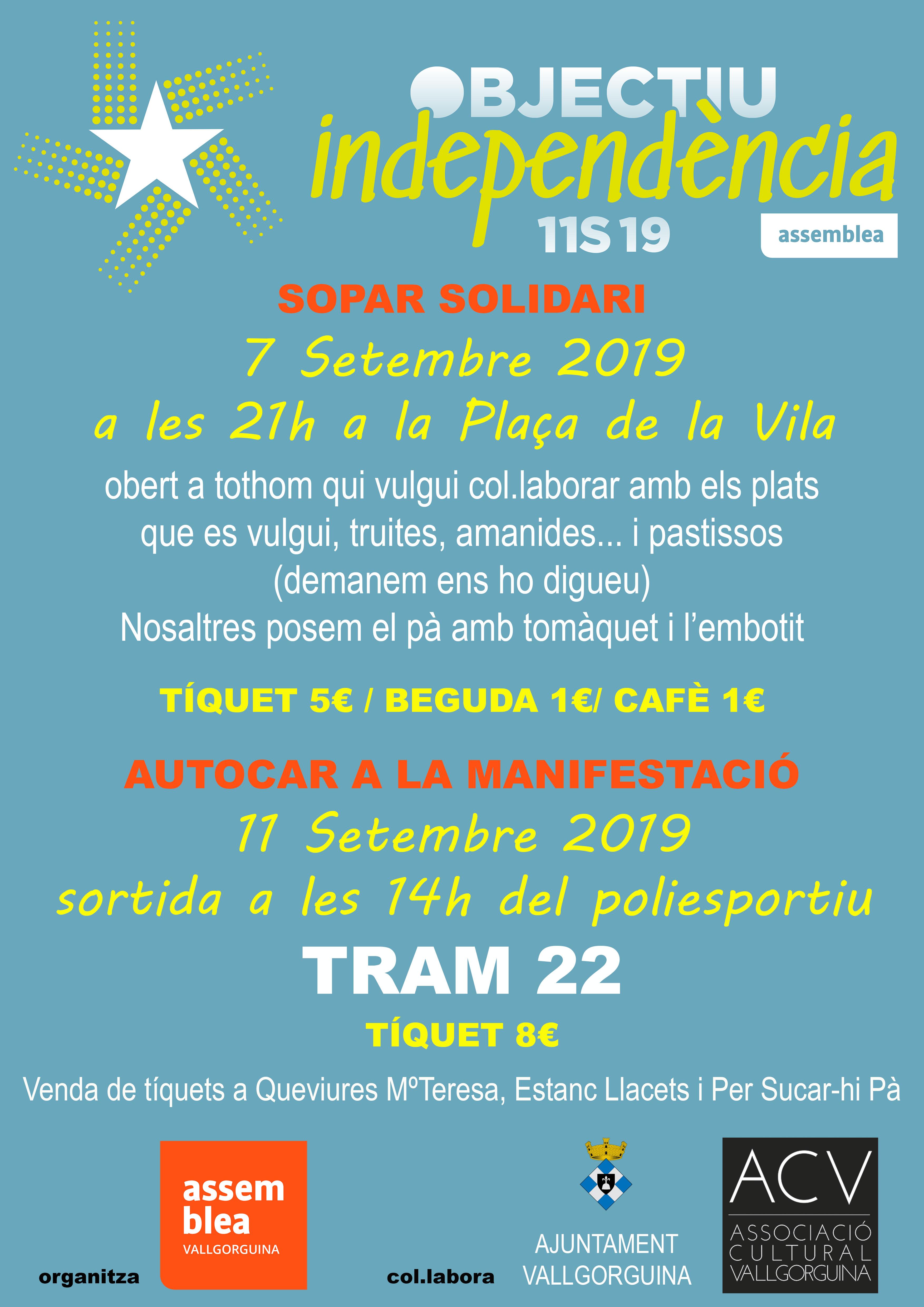 Sopar solidari Diada de Catalunya