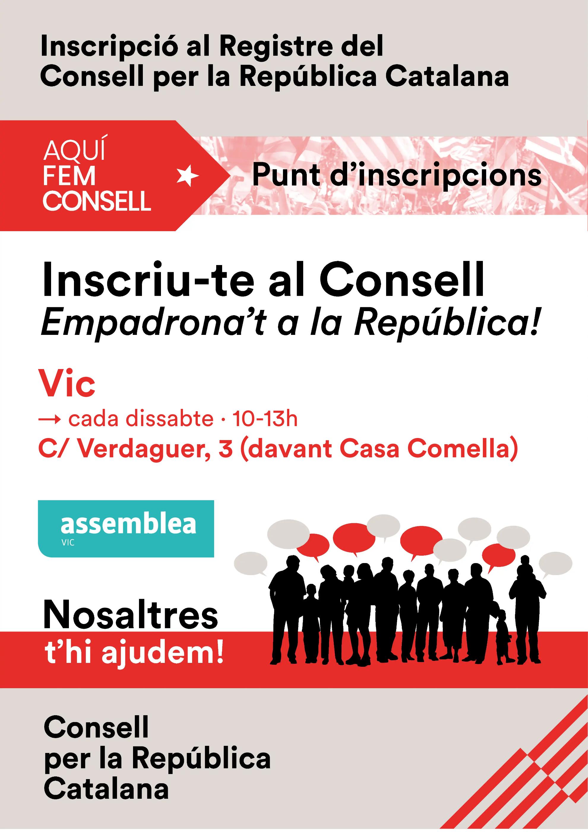 Inscripció al Registre del Consell per la República Catalana