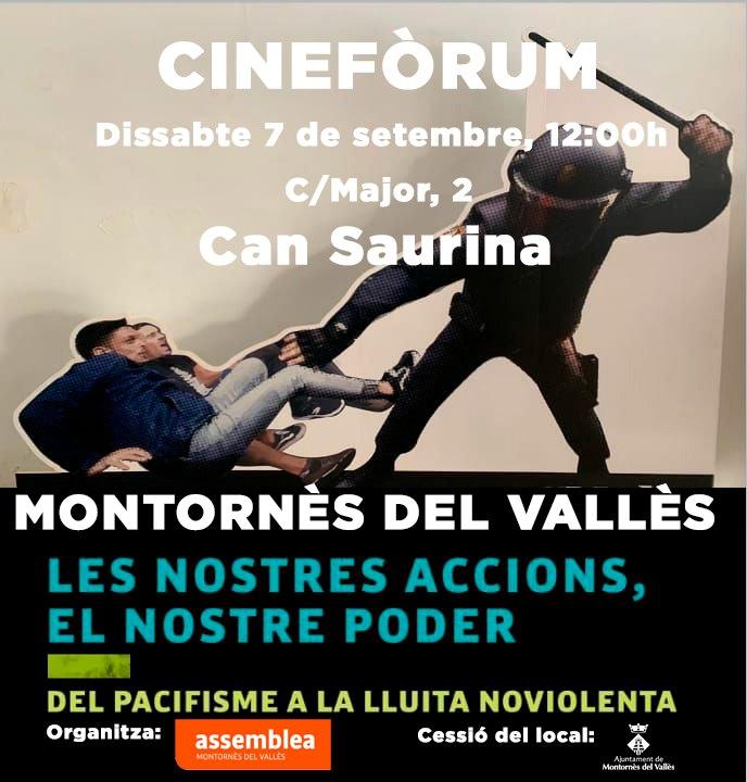 Cinefòrum: del pacifisme a la lluita noviolenta