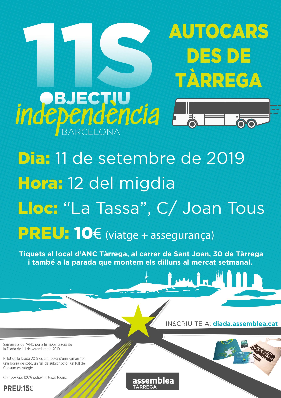 Autocars per la manifestació de la Diada