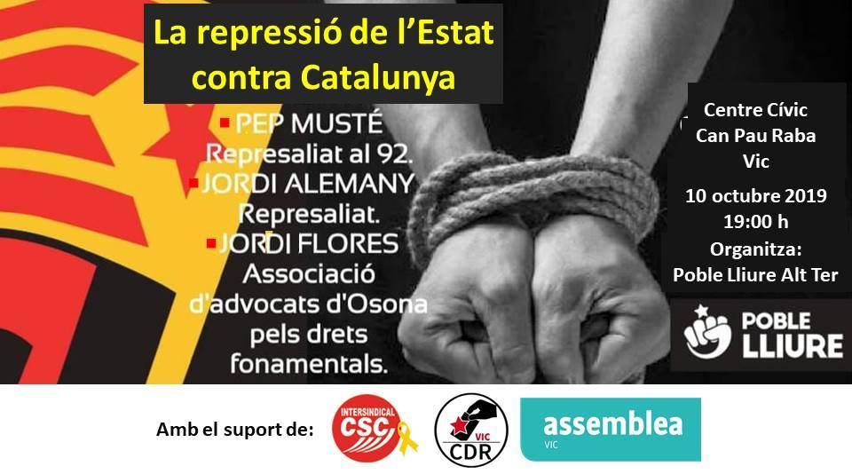 La repressió de l'Estat contra Catalunya