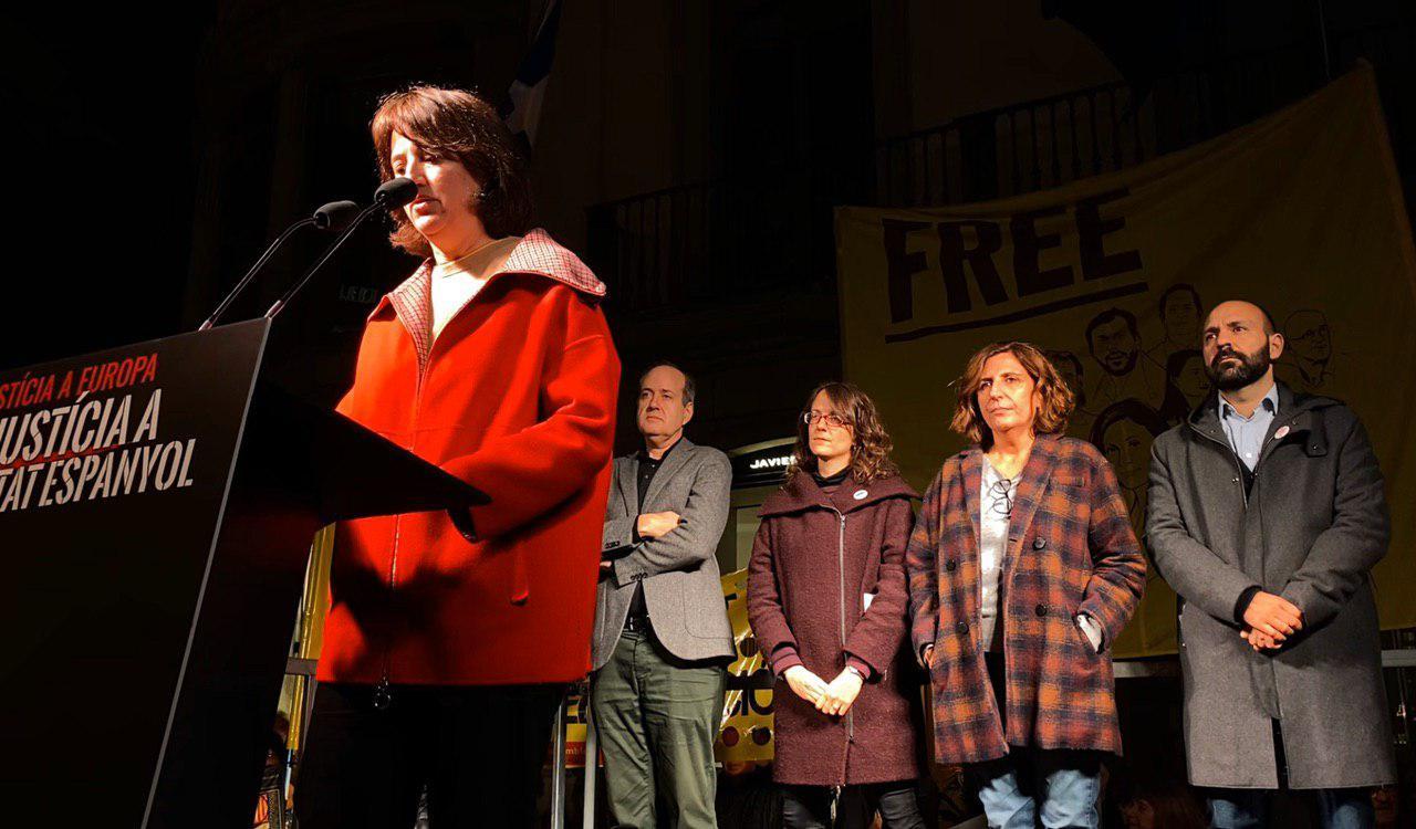 Acte de suport a Quim Torra i Oriol Junqueras