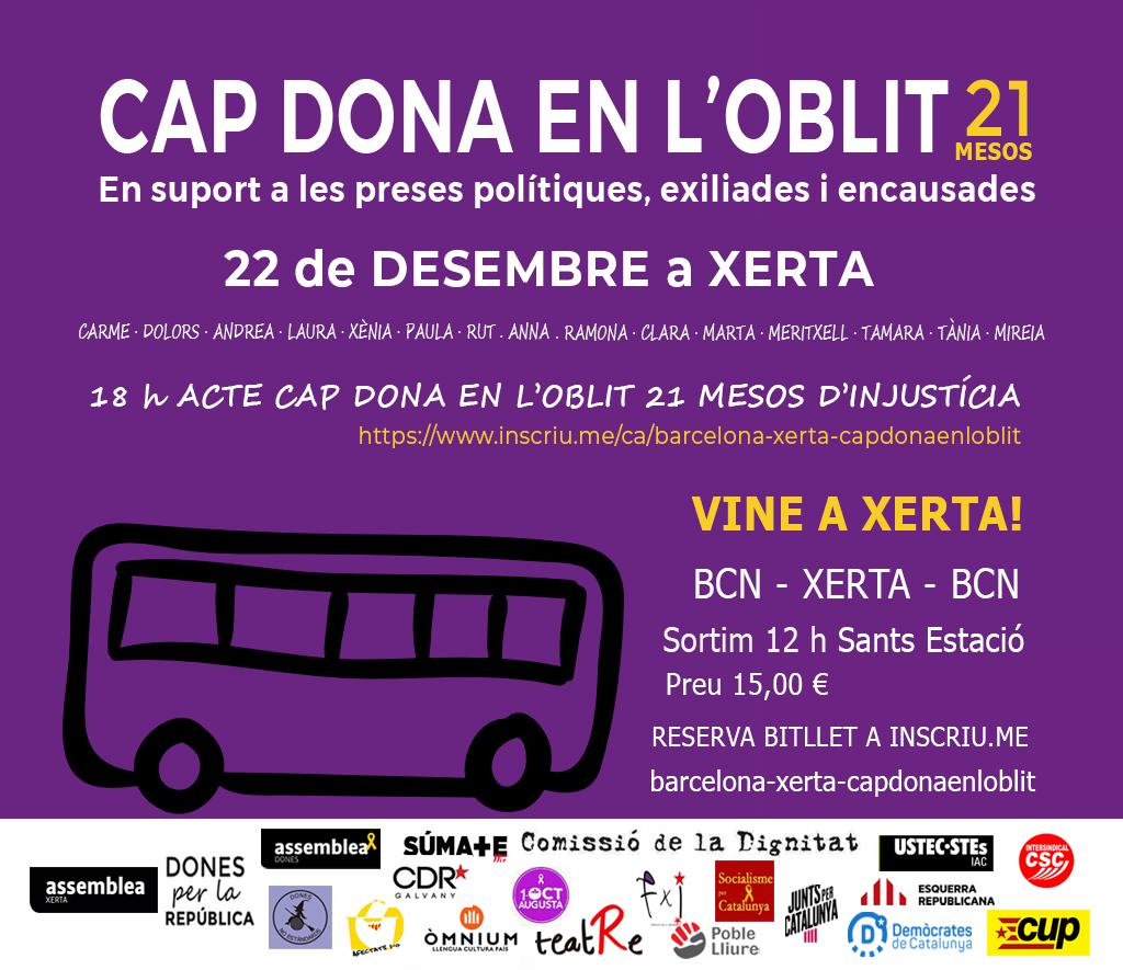 22-D Barcelona-Xerta – #CapDonaEnlOblit
