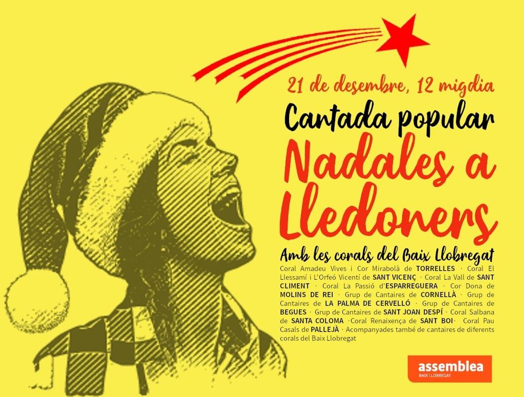 Cantada de nadales a Lledoners amb les territorials del Baix Llobregat