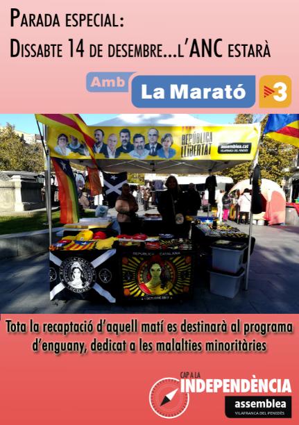 L'Assemblea de Vilafranca amb la Marató de TV3