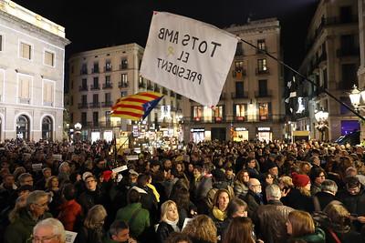 Concentració inhabilitació Torra Sant Jaume Barcelona