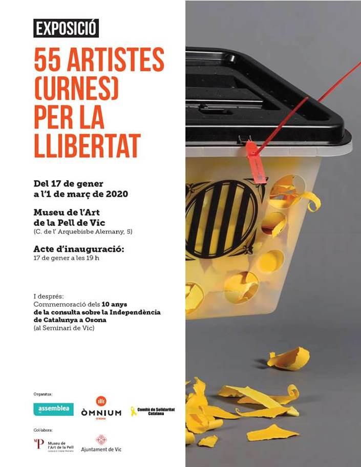 Inauguració de l'exposició 55 artistes (urnes) per la llibertat
