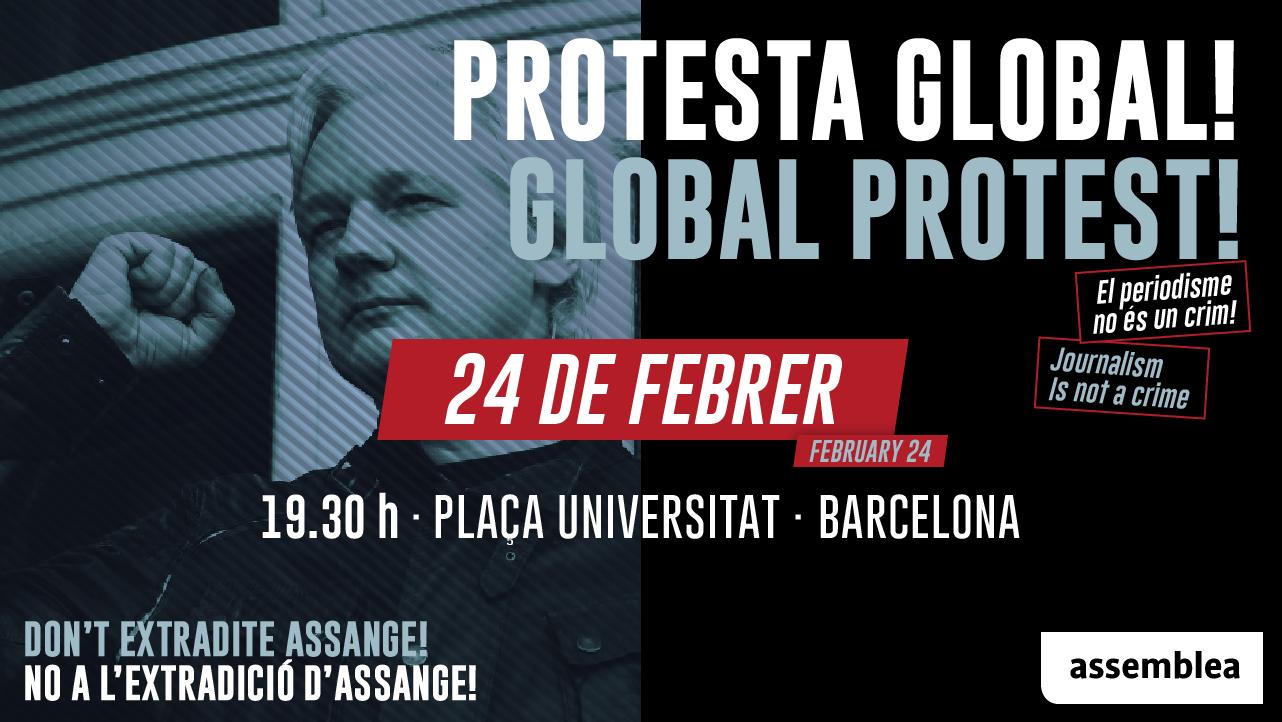 No a l'extradició d'Assange! (Protesta Global)