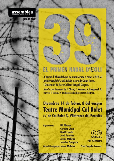 Teatre: 39, el primer Nadal d'exili