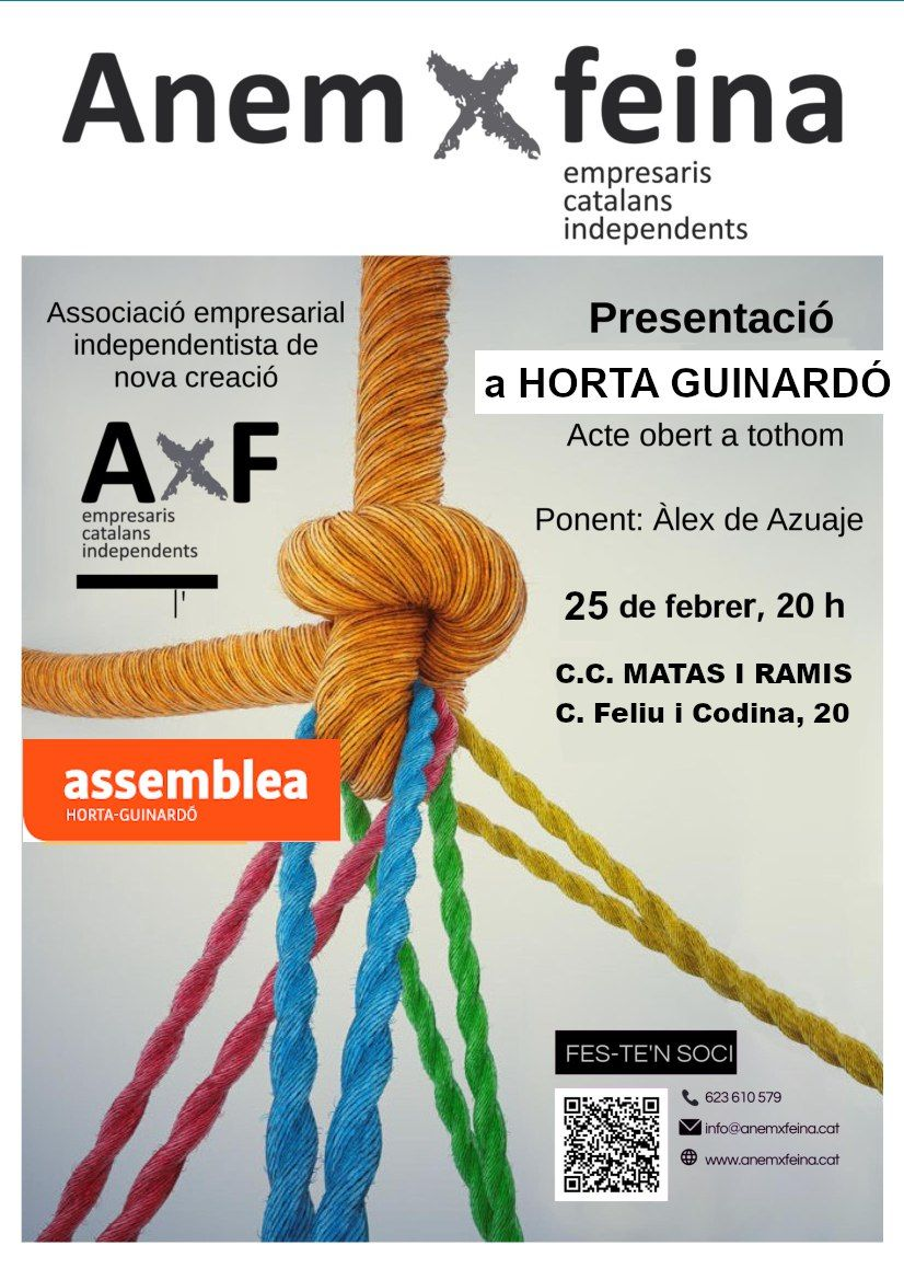 Presentació d'AnemxFeina a Horta Guinardó