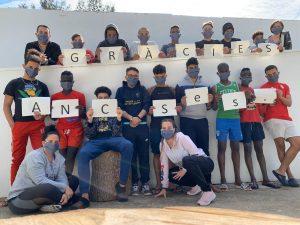 La donació de mascaretes de l'Assemblea Territorial de Sant Esteve Sesrovires al Crae de Lledoners.