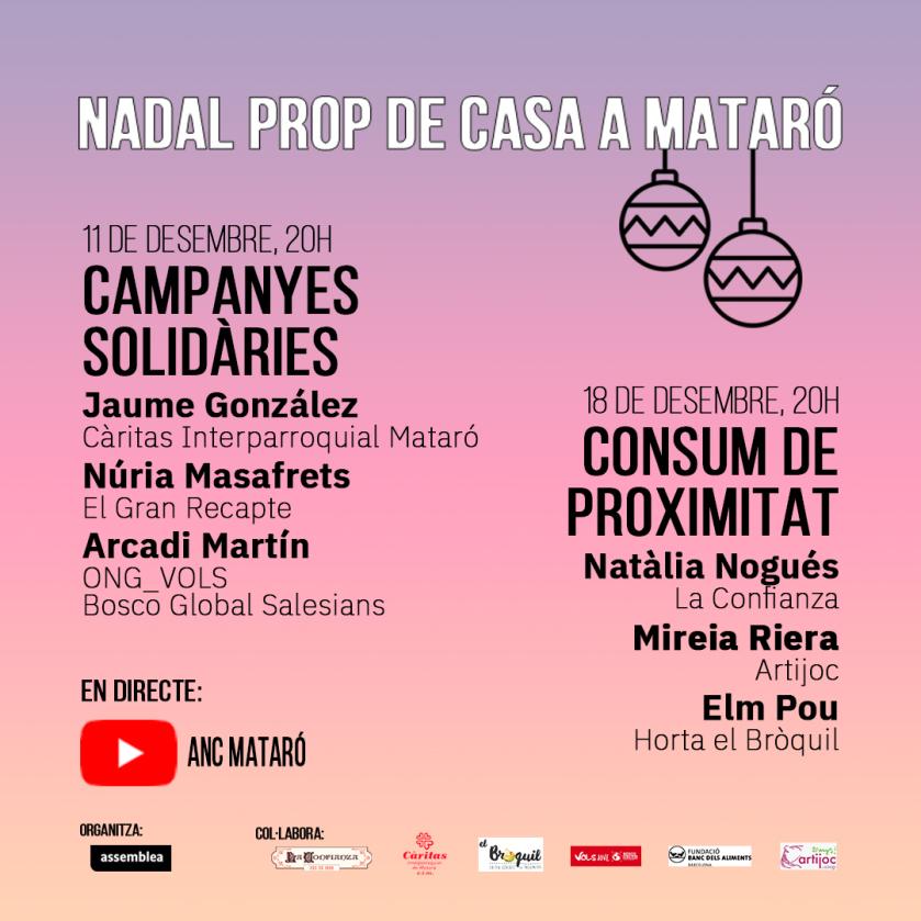 Nadal prop de casa a Mataró -Campanya Solidària