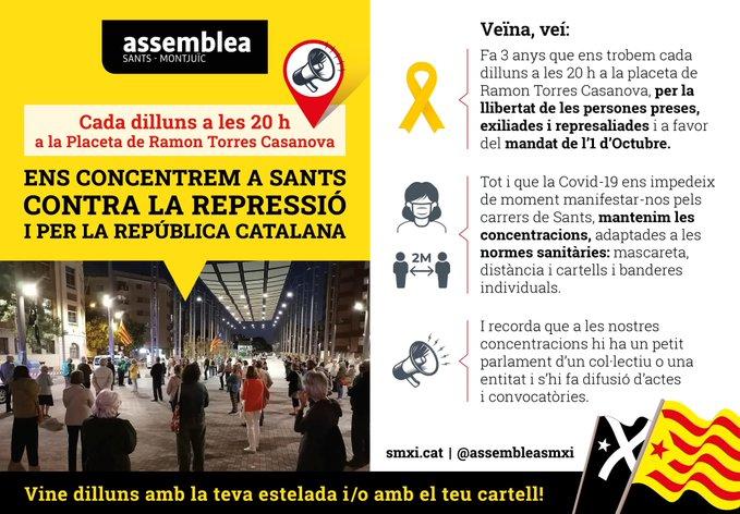 Manifestació pels presos i represaliats polítics i la independència