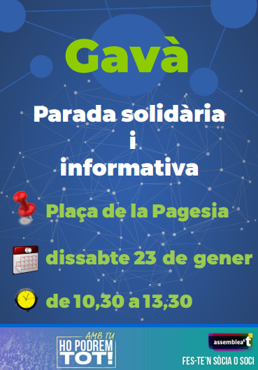 Parada informativa i solidària