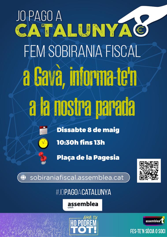 Parada solidària i informativa sobre Sobirania Fiscal