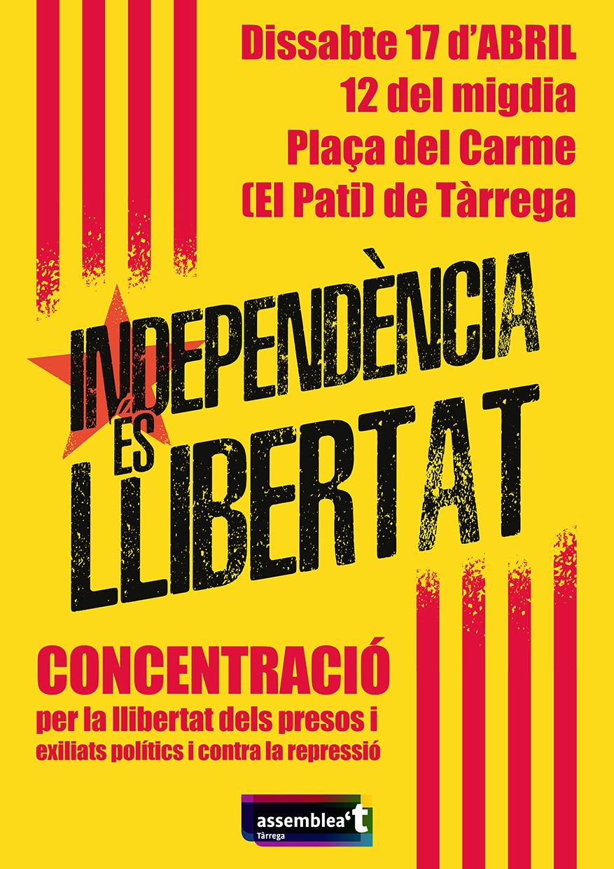 Concentració per la llibertat dels presos i exiliats polítics i contra la repressió