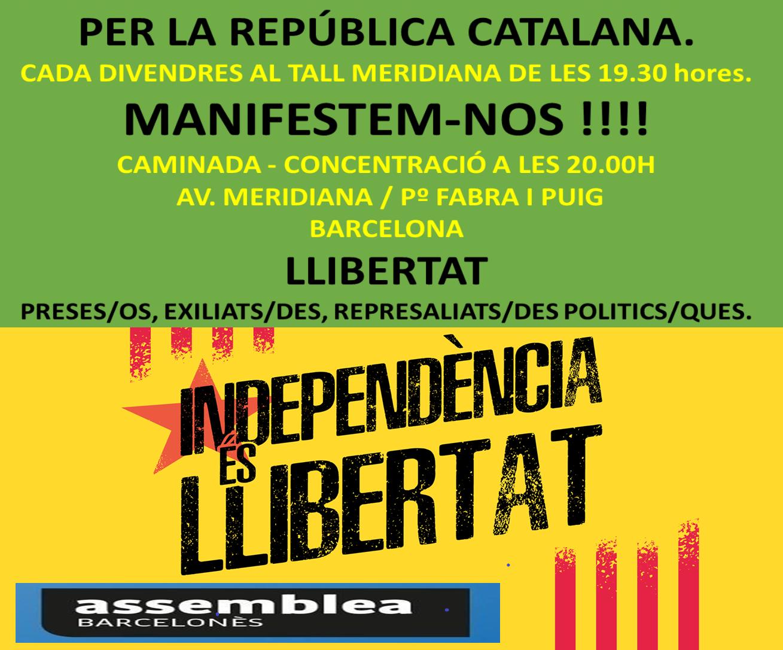 Caminades per la República, alliberament dels presos polítics, exiliats i represaliats