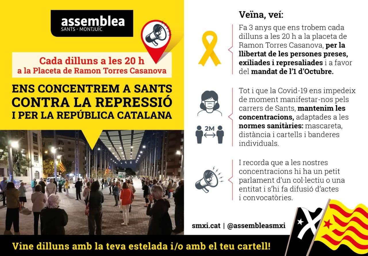Concentració: Per la Independència i la llibertat dels presos polítics