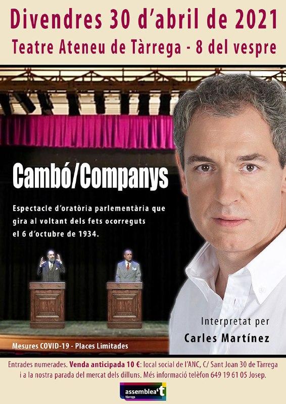 """Obra de teatre """"Cambó / Companys"""""""