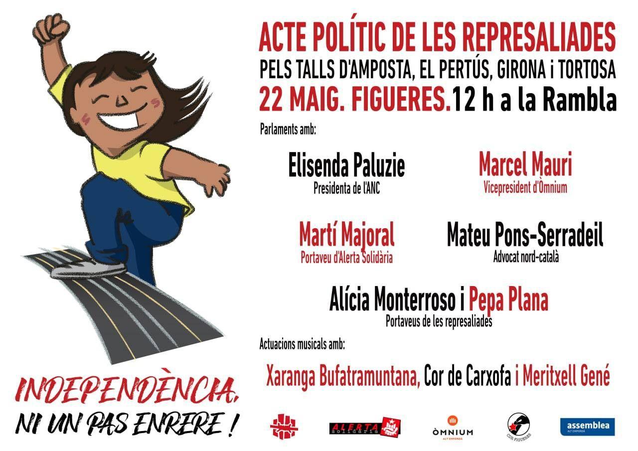 Acte polític de lesrepresaliades pels talls d'Amposta, el Pertús, Girona i Tortosa