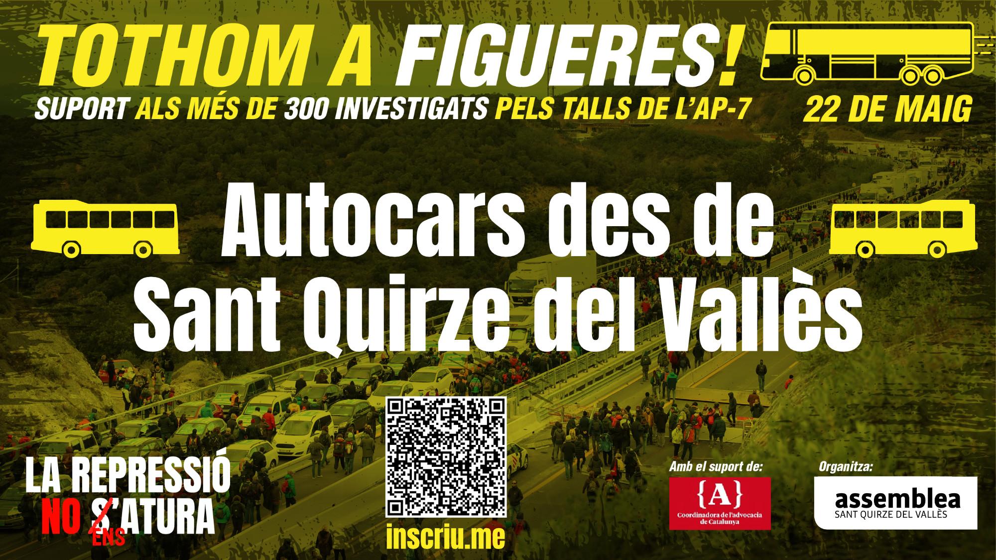 Autocars a Figueres per l'acte del 22 de maig