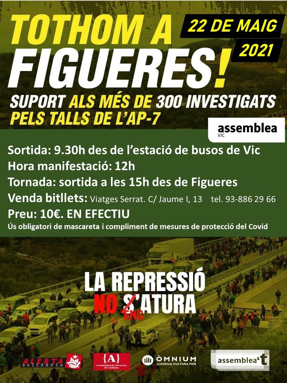 Bus des de Vic a Figueres 22 de maig