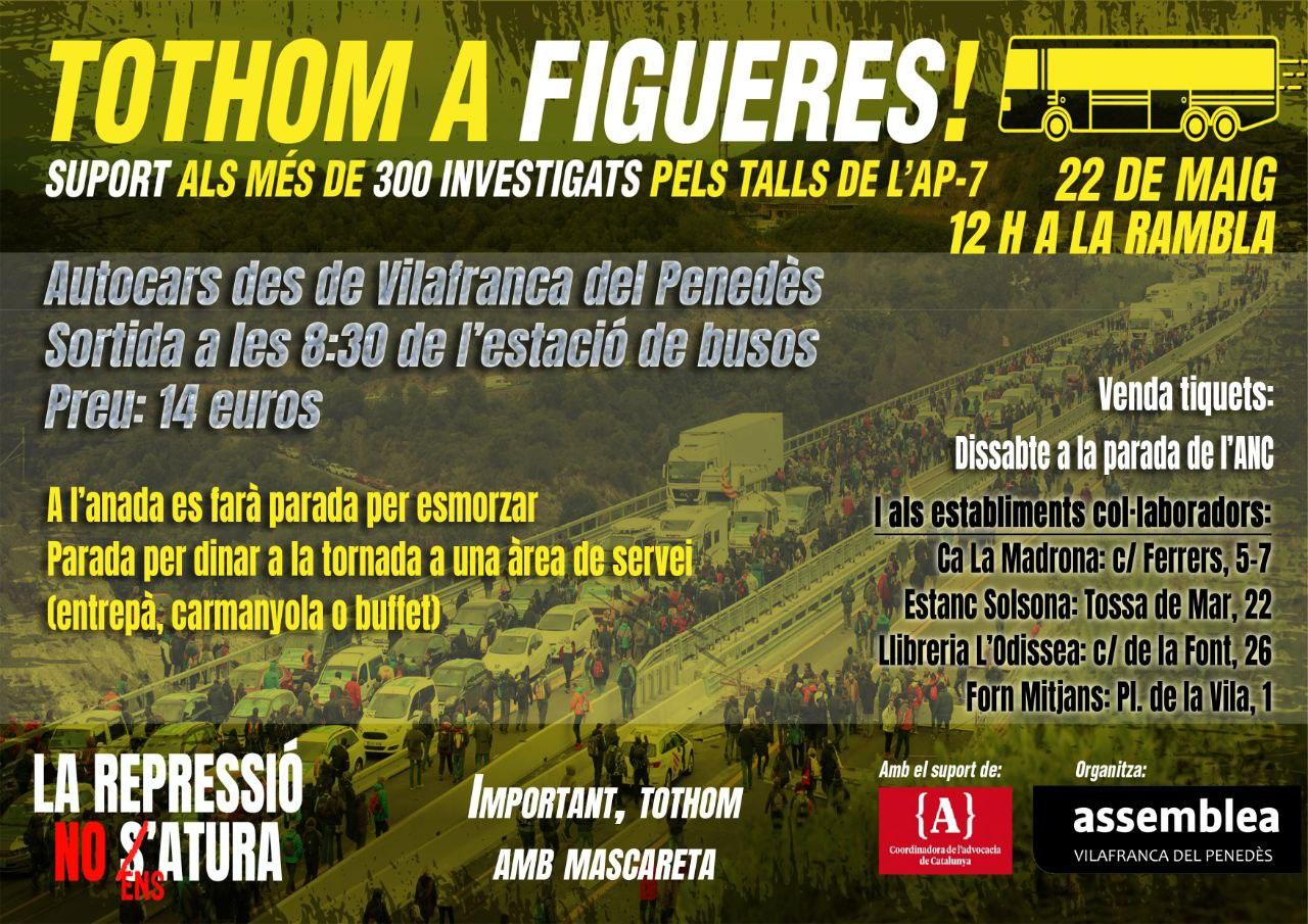 Tothom a Figueres. Autocars des de Vilafranca.